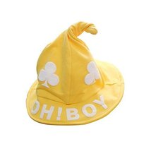 Yellow, Pure Cotton Comfortable Ventilate Children Cap/Kid Cap(Wizard Hat) image 1