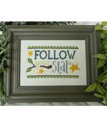Follow Your Star cross stitch chart Cherry Hill Stitchery - $5.40