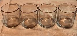 Copper Thief Cellar Masters 4 Rock Gold Trim Highball Glasses 8 oz NEW - $34.49