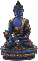 DharmaObjects Tibetan Healing Medicine Buddha Statue Hand Painted Nepal ... - $99.99