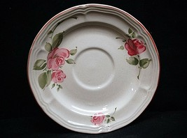 Old Vintage Roseland by Gibson Housewares China Saucer Plate Pink Roses ... - $8.90