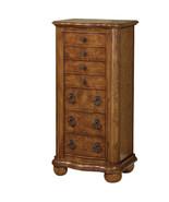 Powell Porter Valley Transitional Jewelry Armoire, New,Oak,Jewelry Box, ... - $359.99