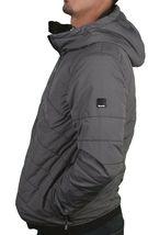 Bench Ahlo Black Charcoal Grey Quilted Lightweight Winter Jacket Hood BMKA1469 image 4