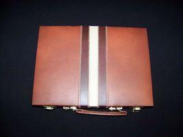 Backgammon vintage 100% complete brown striped ... - $19.99