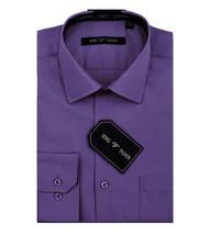 Verno Men's Classic Fashion Fit Lilac Color Button Up Dress Shirt w/Defect 3XL