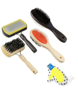 Pet Grooming Brushes Wooden Combs Glove Mitts Dog or Cat - $7.91+