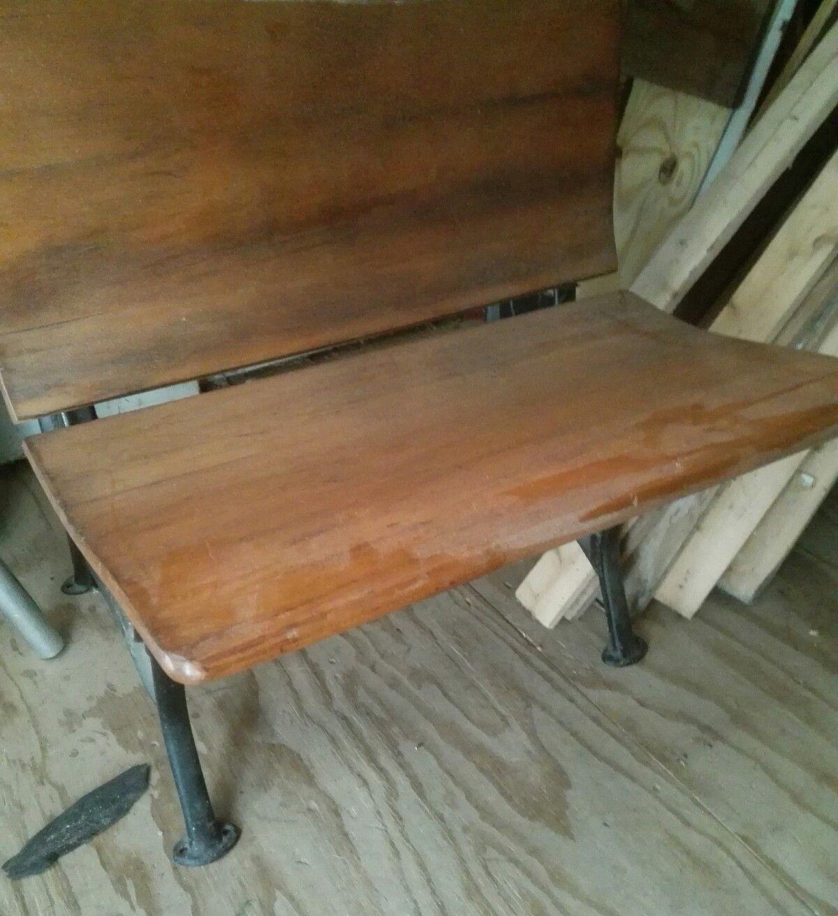 Incredible Vintage Wood Wrought Iron School Desk Ink And 50 Similar Items Download Free Architecture Designs Xoliawazosbritishbridgeorg