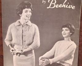 Vintage Beehive Molana Knitting Patterns LADIES Pullover Sweater Stoles Shawls - $7.95