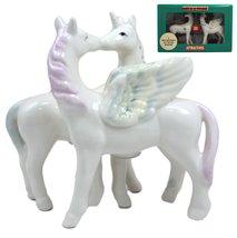 Ebros Gift Rare Mythical Horses Kissing Unicorn and Pegasus Ceramic Magn... - $13.85