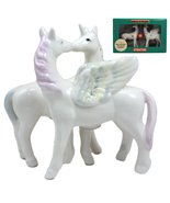 Ebros Gift Rare Mythical Horses Kissing Unicorn and Pegasus Ceramic Magn... - $13.99