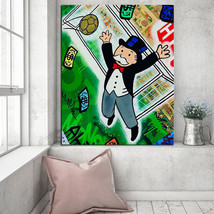 """Alec Monopoly """"Soccer"""" NEW HD print on canvas large wall picture 36x28"""" - $29.69"""
