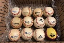 Mixed Lot of 12 Used Tee Ball Baseballs Little League Practice Rawlings Diamond - $18.61