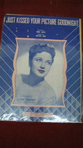 """Antique Vintage """"I Just Kissed Your Picture Goodnight"""" Sheet Music #62 - $24.74"""