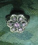 Vintage purple stone cocktail ring size 6 - $18.00