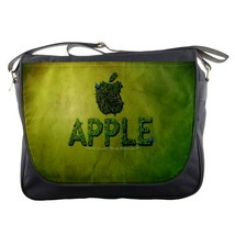 Messenger Bag Apple Logo In Nature Green Grass Design Game Fantasy Animation - $30.00