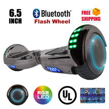 Chrome Black Flash Bluetooth Hoverboard Two Wheel Balance Scooter UL 2272 - $249.00