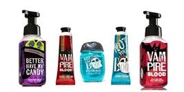 5 Pc Bath & Body Works Halloween Soap, Sanitizer, Cream Set- Vampire, Candy, Boo - $21.99