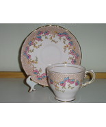 Vintage Tuscan English Bone China Cup & Saucer - Lovely Floral Pattern, ... - £16.21 GBP