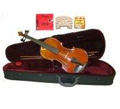 "16.5"" Hand Made Solid Wood Ebony Viola,Case,Bow+2 Sets Strings,2 Bridges,Tuner"