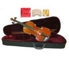 "16.5"" Hand Made Solid Wood Ebony Viola,Case,Bow+2 Sets Strings,2 Bridges... - $90.00"