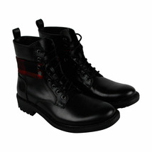 Kenneth Cole Unlisted Design Sz 11 Mens Black Leather Lace Up Boots Plai... - $28.98