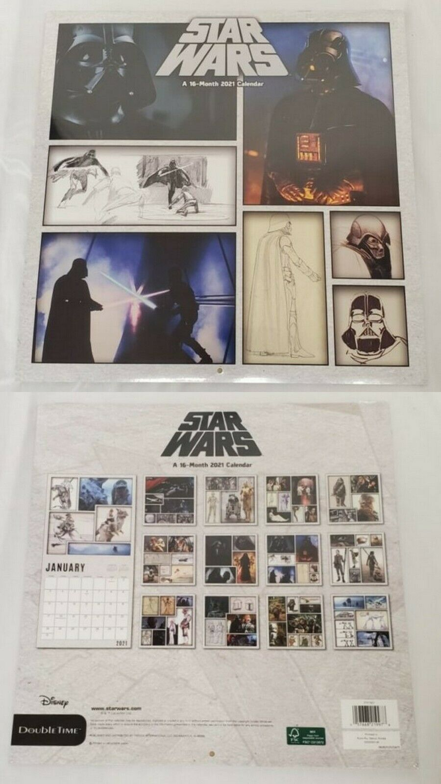 Primary image for NEW SEALED 2021 Star Wars 16 Month Wall Calendar