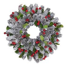 "10"" Pine Cone Berries Stars Christmas Wreath - $39.95"