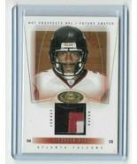 2004 Fleer - Future Swatch Jersey card #97 - DeAngelo Hall - Falcons - 1... - $14.01