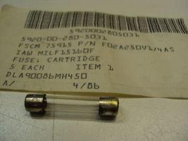 """F02A250V1/4AS 1/4A 250V Mil Spec Fuse Glass 1.25"""" - $5.00"""