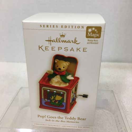 Primary image for 2006 Jack In Box Memories #4 Teddy Hallmark Christmas Tree Ornament MIB Tag H8