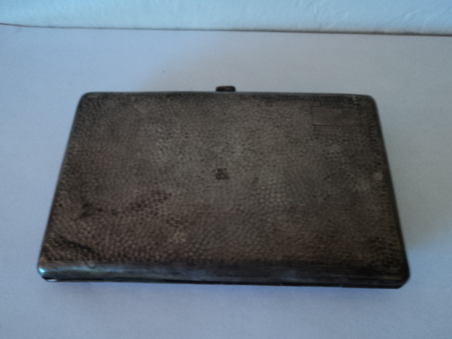 Vintage  Sterling Silver Cigarette Holder Case 800 PN France