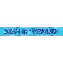 Unique Party Blue Glitz Foil Banner - 14th Birthday #jde - $7.79