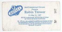 Rare ROBIN TROWER 5/10/87 Hadley MA Katina's Ticket Stub! - $8.90