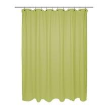 Carnation Home X-Long Size 100% Cotton Chevron Weave Citron Shower Curtain - $22.17