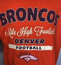 Denver Broncos T Shirt Mile High Football Orange Tee Size XL NFL Colorado  - $23.27