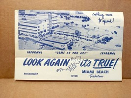 1957 Kingston Hotel Motel Yacht Club Flyer Miami Florida Vintage Travel FL - $10.00