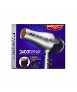 Red by Kiss 2400 Tourmaline Ceramic Hair Dryer with 3 Detangler Piks #BD05N - $32.62