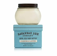 Gift Box Savannah Bee Royal Jelly Body Butter Cream Chamomile Myrrh~6.7 oz Large