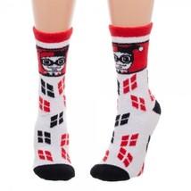 Harley Quinn Batman Dc Comics Fuzzy Adult Crew Socks - $11.99