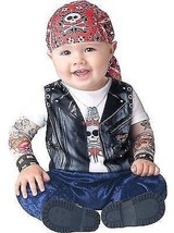 INCHARACTER BORN TO BE WILD BIKER INFANT Toddler Baby HALLOWEEN COSTUME ... - $24.99