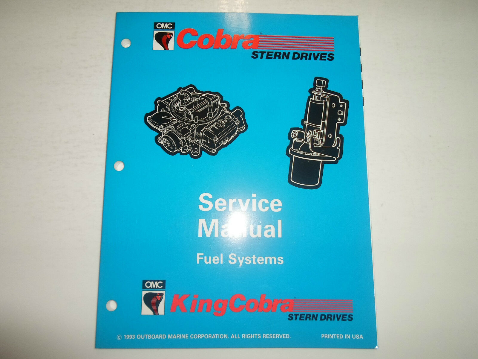 Primary image for 1994 Omc King Cobra Stern Drives Benzin Systeme Service Manuell Fabrik OEM Buch