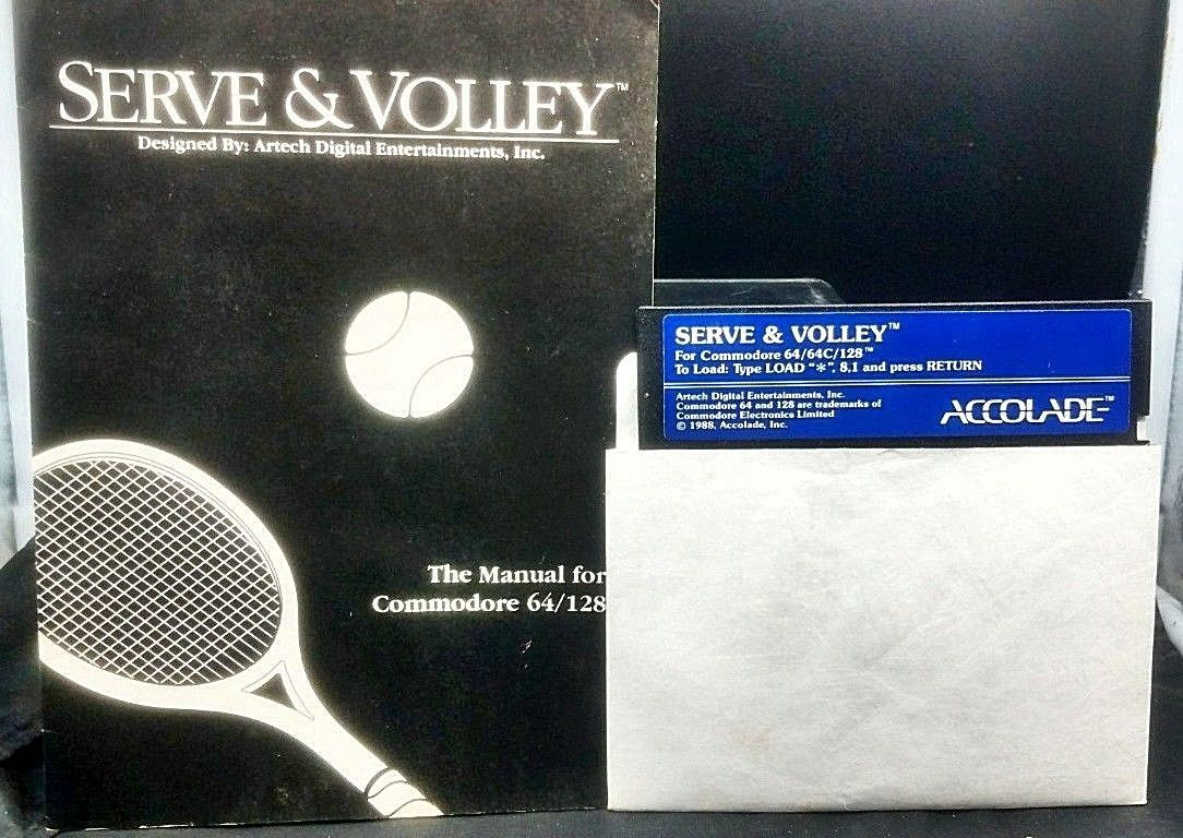Serve and Volley Commodore RARE Tennis and 14 similar items