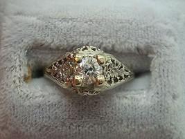 18K Gold Filigree .36ct Genuine Natural Diamond Ring (#J865) - $760.75