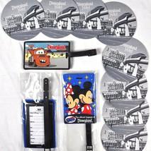 Disneyland Travel Mickey Minnie Mater Pin Luggage ID Tags Coasters 12 Item Lot - $33.76