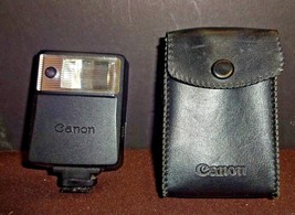 Vintage Canon Speedlite 133A Shoe Mount Flash w Case & Manual (tested wo... - $14.58