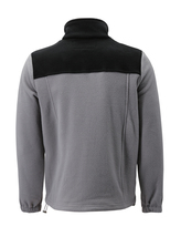Men's Full Zip-Up Two Tone Solid Warm Polar Fleece Soft Collared Sweater Jacket image 15