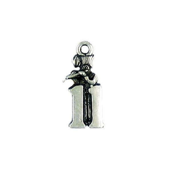 11 Pipers Piping Fine Pewter Charm Pendant - 21mm  X 9mm X 4mm