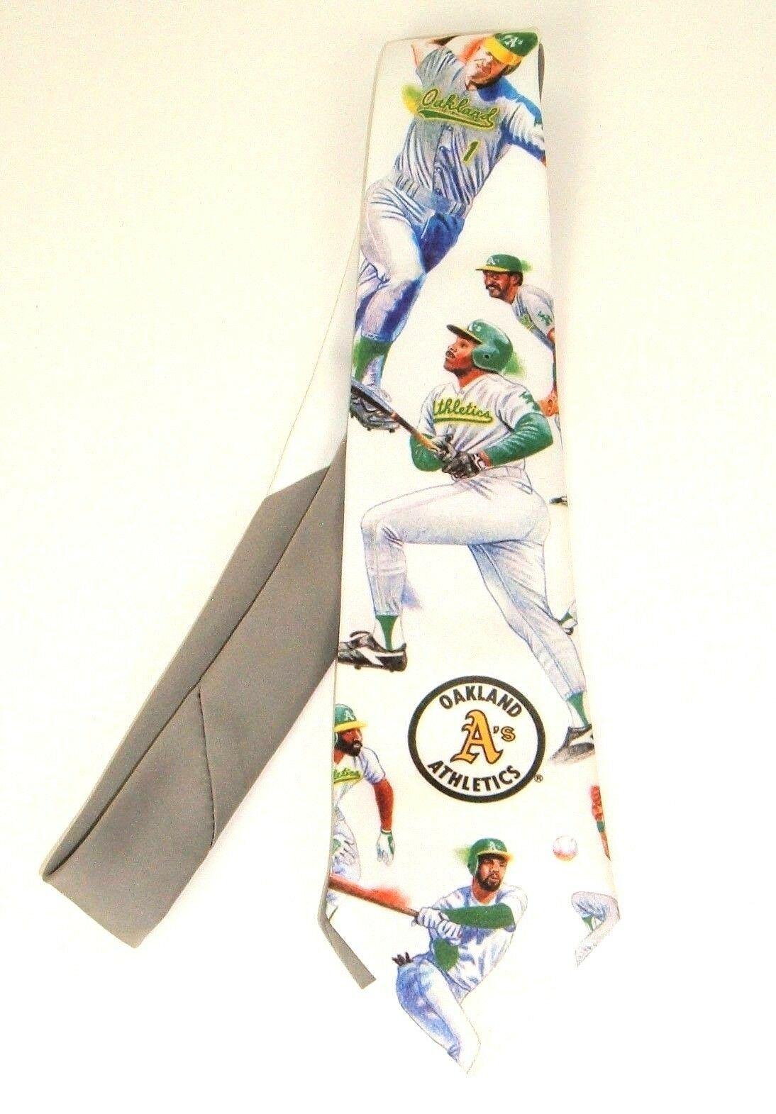 Vtg Ralph Marlin 1991 Neck Tie Oakland A's Athletics Baseball Tim Petersen
