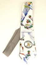 Vtg Ralph Marlin 1991 Neck Tie Oakland A's Athletics Baseball Tim Petersen - $19.75