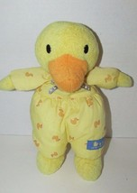 Carters Plush Duckies Baby Rattle yellow blue terry cloth fabric print d... - $35.63